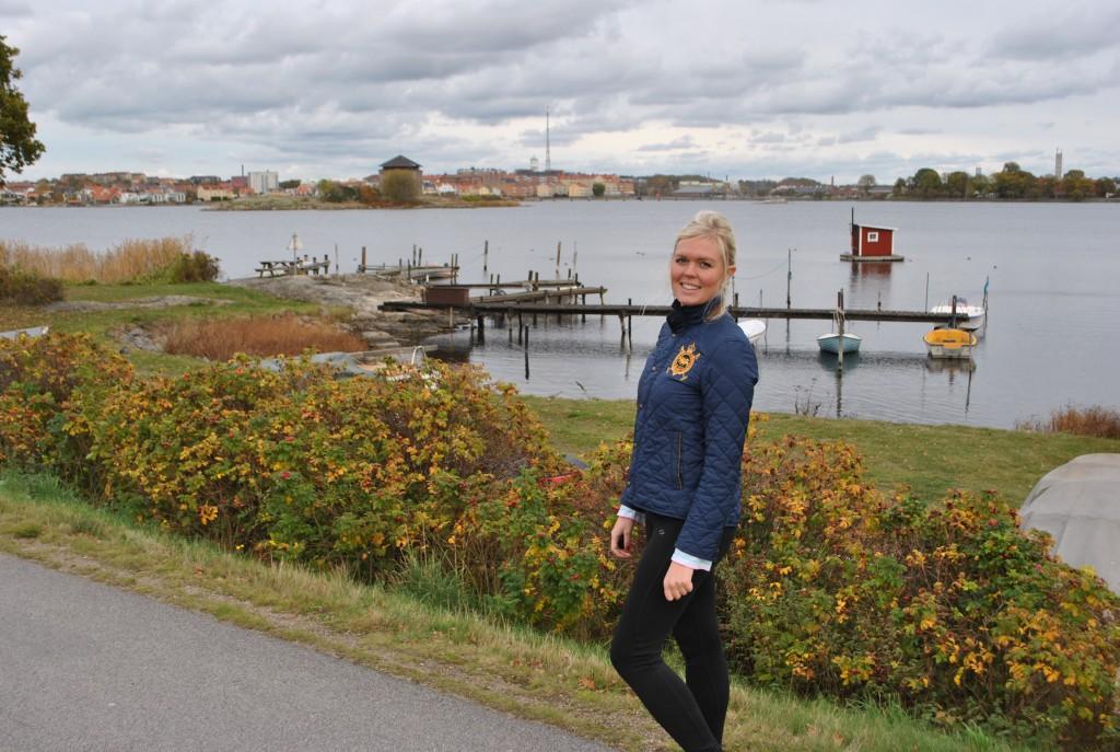 Cissi på promenad Karlskrona