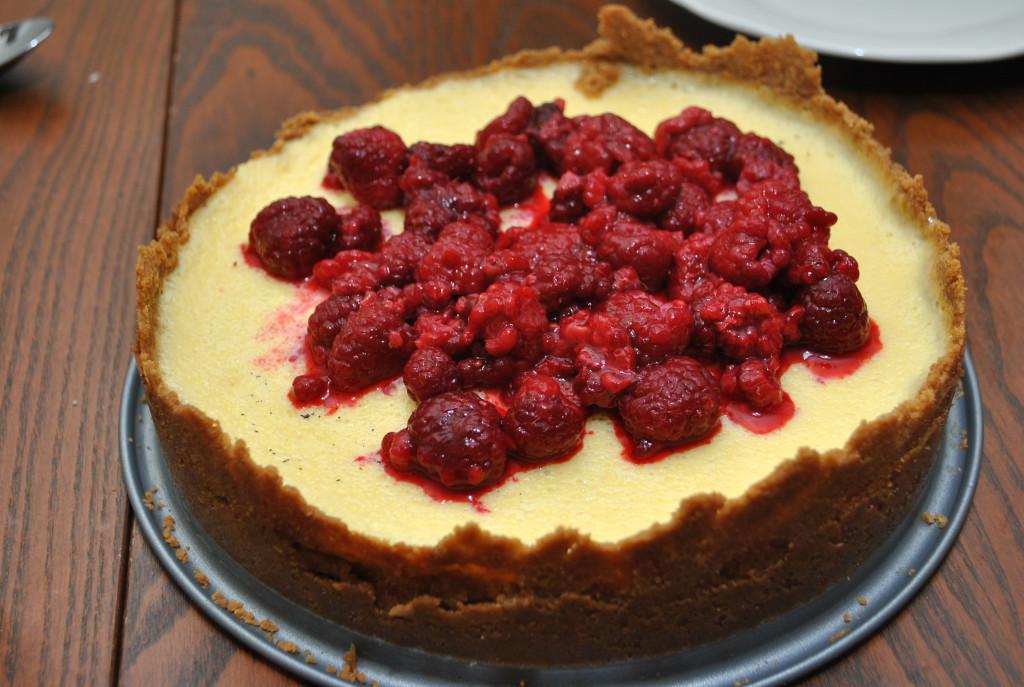 Cheesecake med kondenserad mjölk och citron