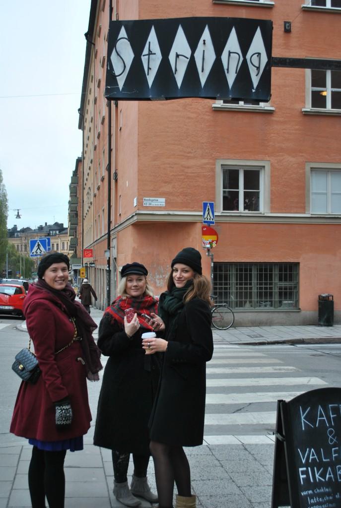 Lisa, Linn och Sanna utanför String