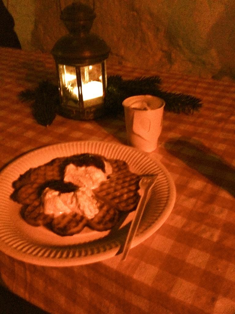 Saffransvåffla och varm choklad