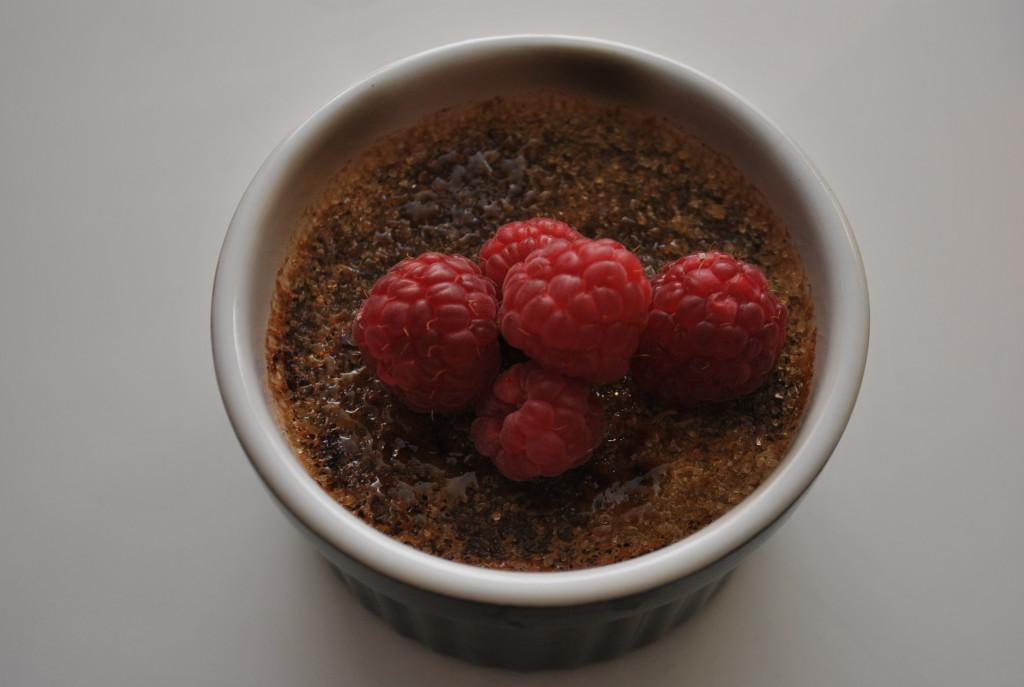 Crème brûlée med mjölkchoklad