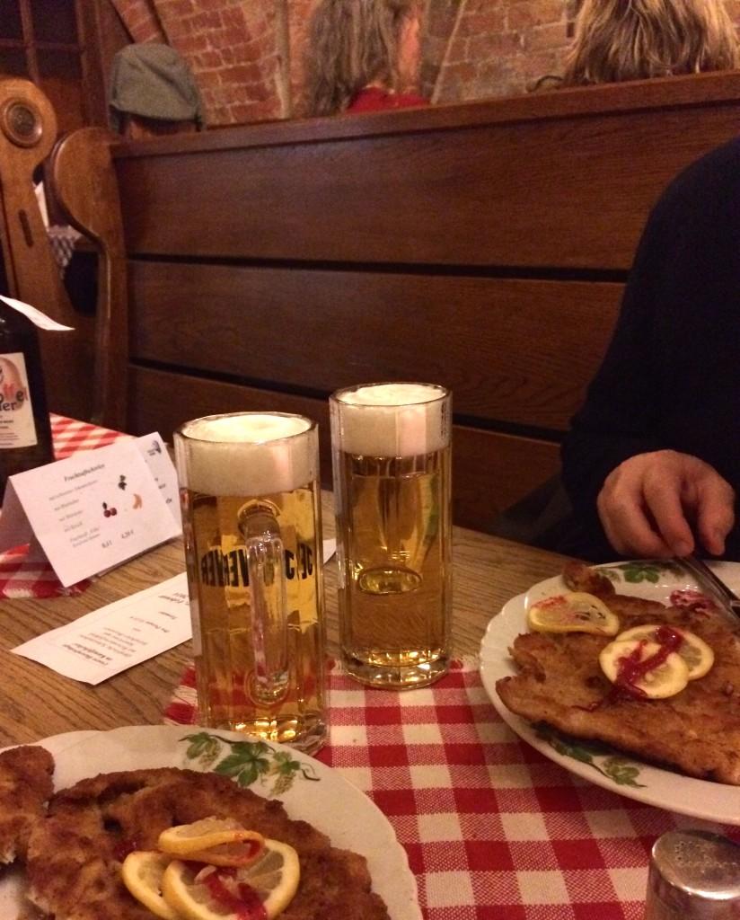 Schnitzel och öl