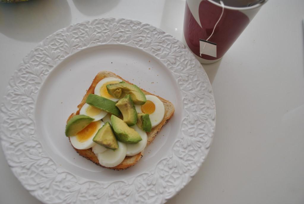 Ägg och avokadomacka