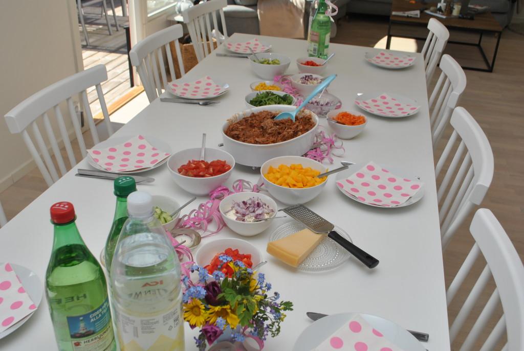 Pulled pork-middag
