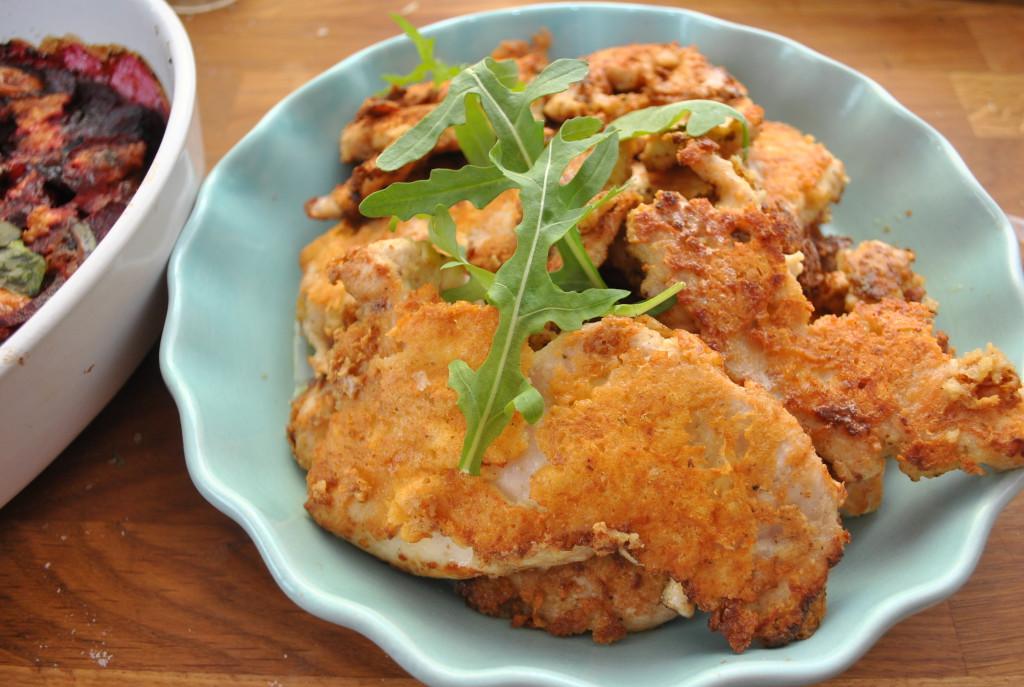 Krispis kyckling med västerbottenost