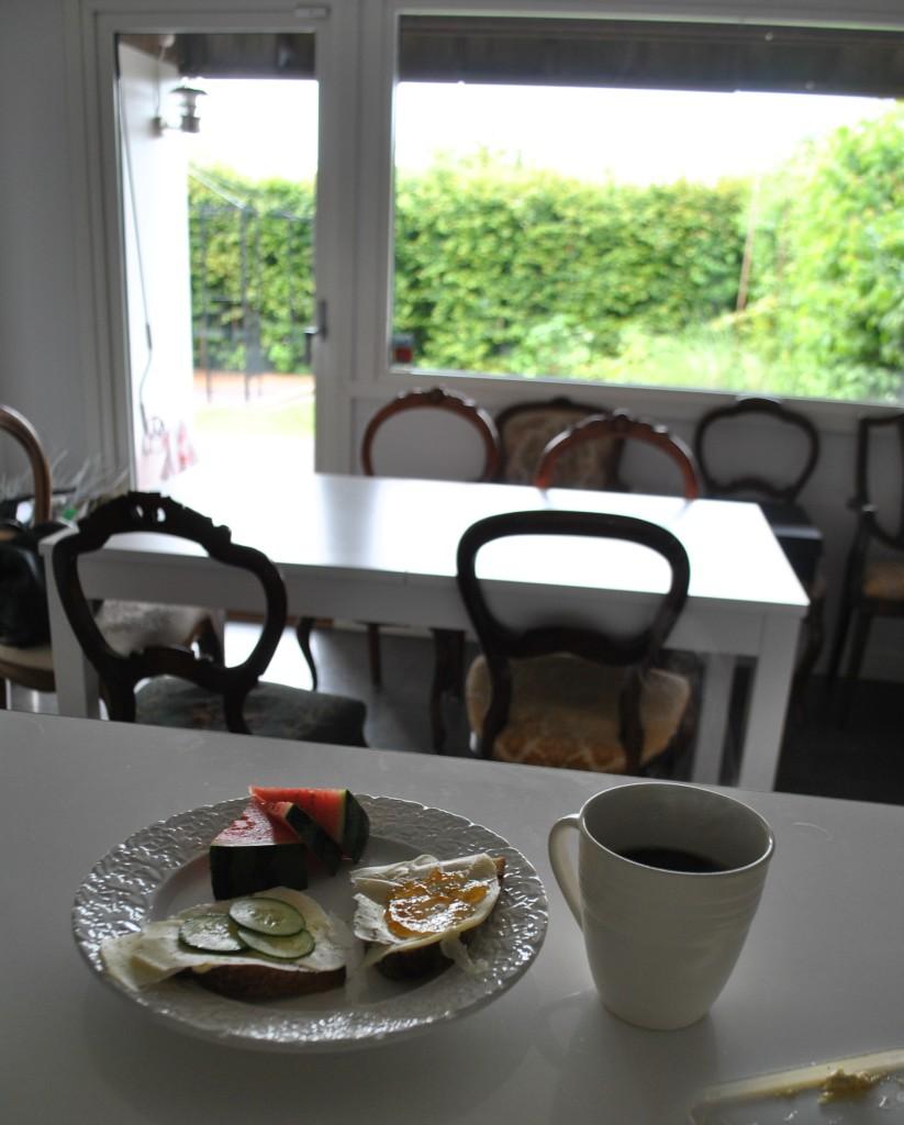 Frukost i nya köket