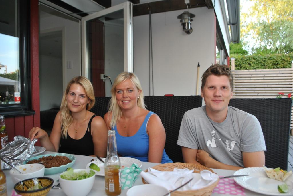 Linda, jag och Magnus