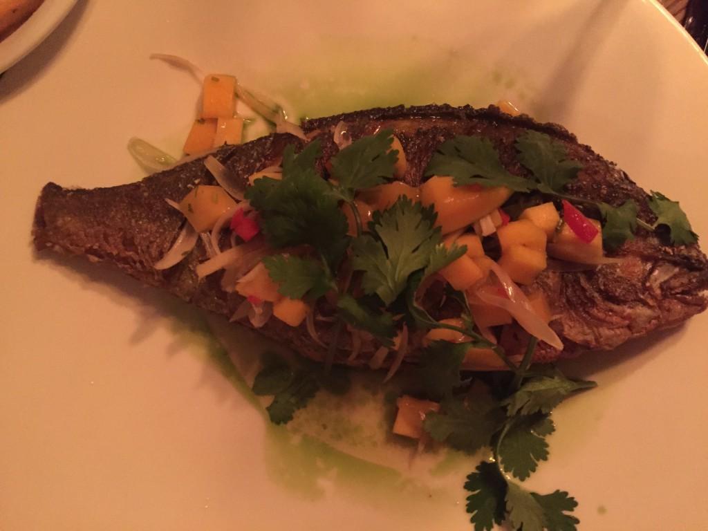 Fisk med mango och koriander