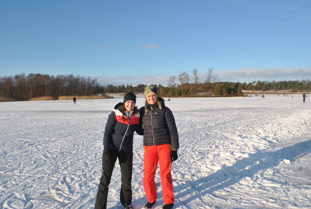 Helena och jag på isen