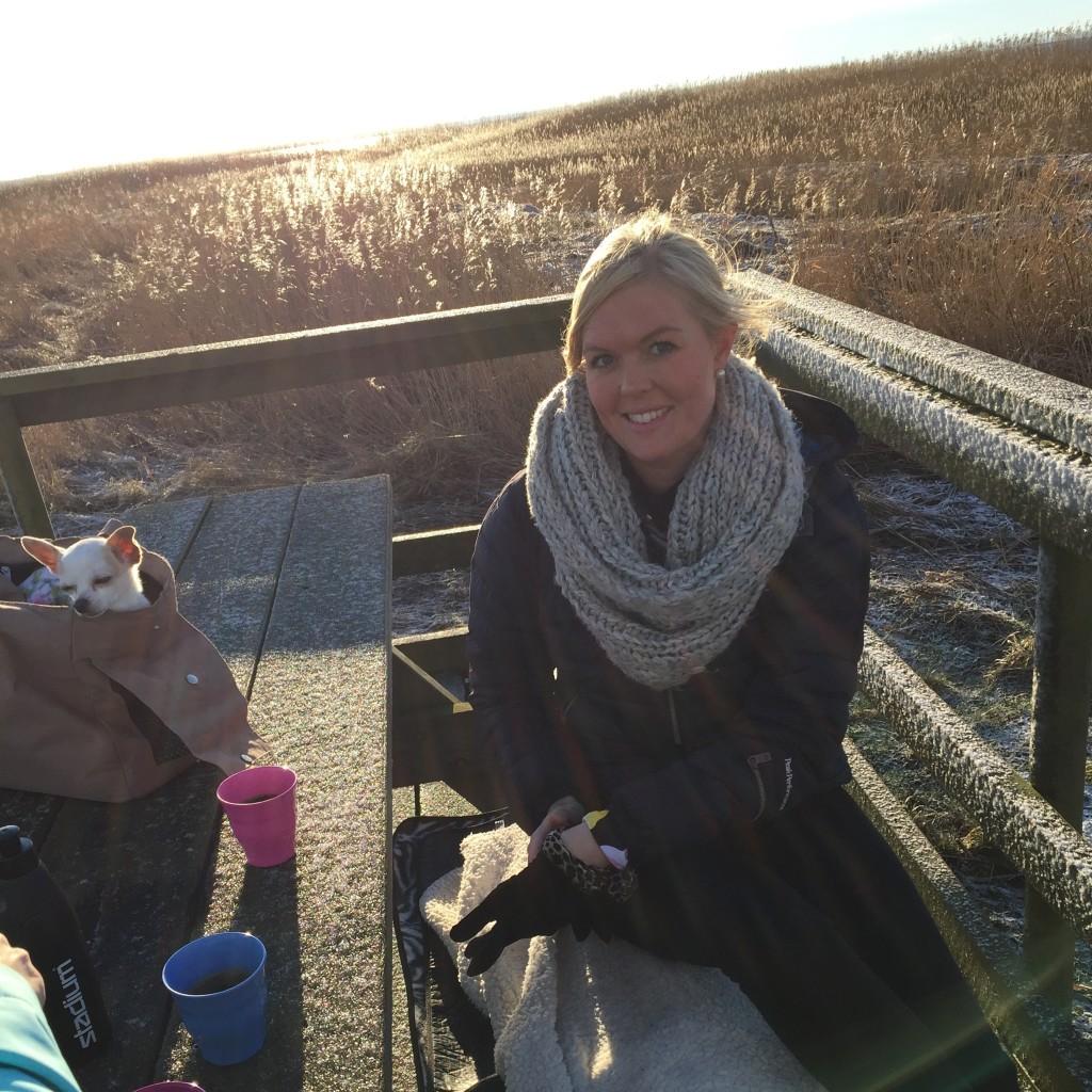 Vinterfika vid vattnet i Bjärred