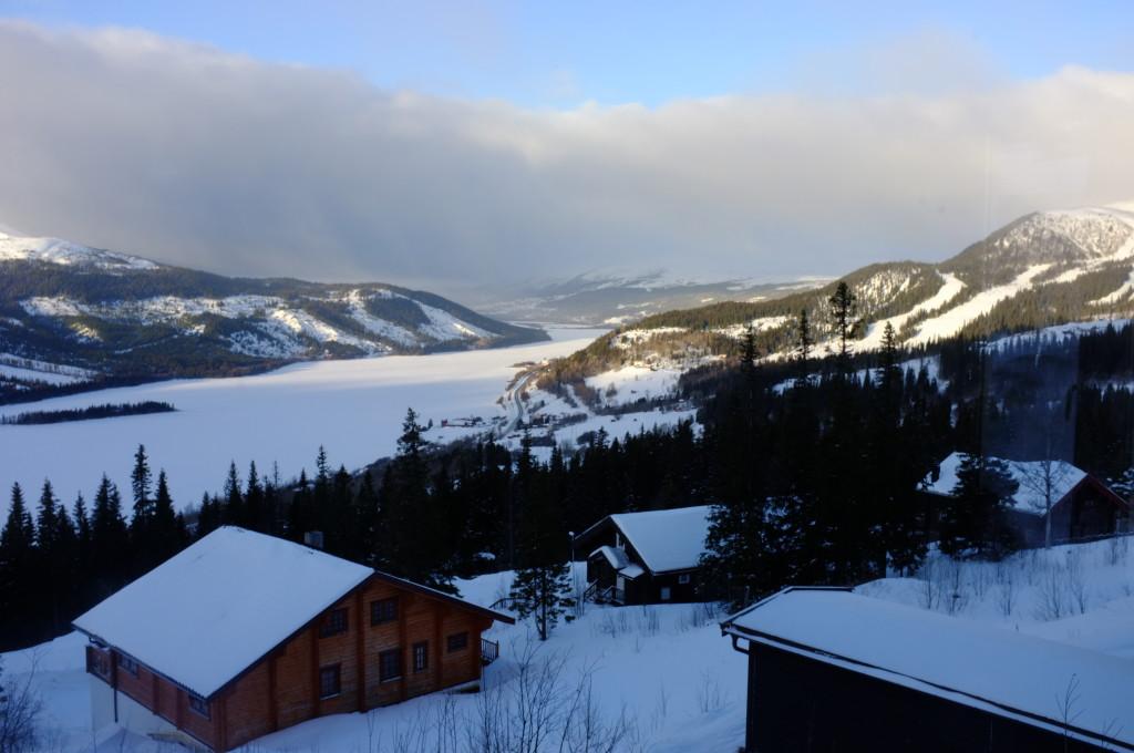 Utsikt från stugan i Björnen Åre