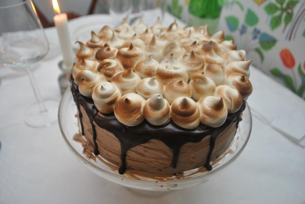 Mjölkchoklad och espressotårta