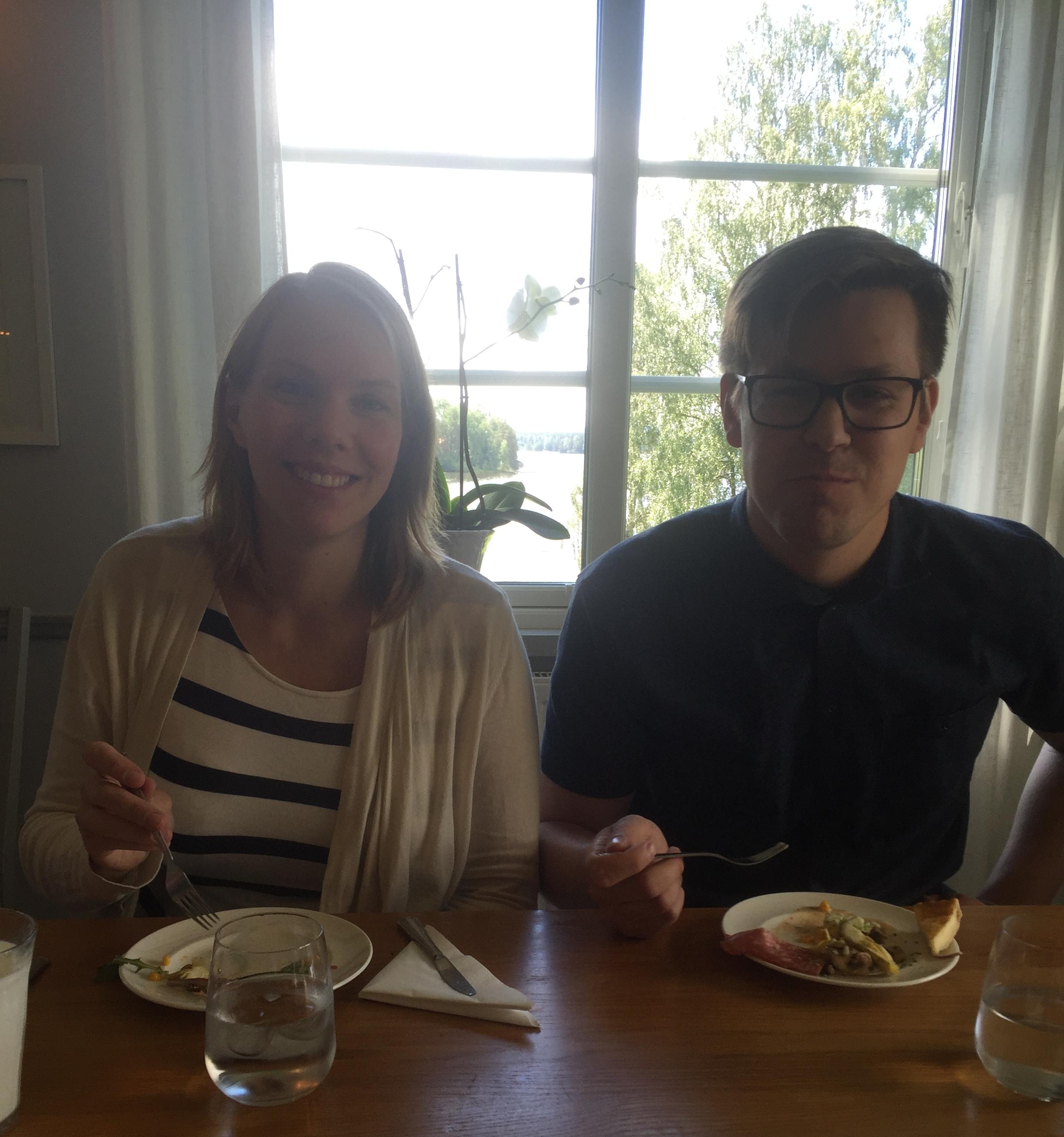 Sandra och Arvid på Haganäs